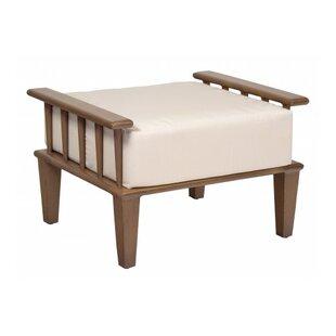 Woodard Van Dyke Ottoman with Cushion