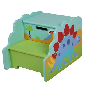 Olive Kids Dinosaur Step Stool with Storage by Levels of Discovery
