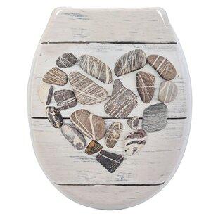 Evideco Design Nature Printed Duroplast Oval Toilet Seat