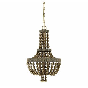 Bungalow Rose Pericles 3-Light LED Empire Chandelier