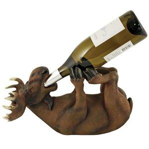 Mischievous Moose 1 Bottle Tabletop Wine Rack by True Brands