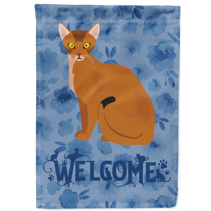 Caroline S Treasures Snowshoe Cat Welcome 2 Sided Polyester 15 X 12 In Garden Flag Wayfair