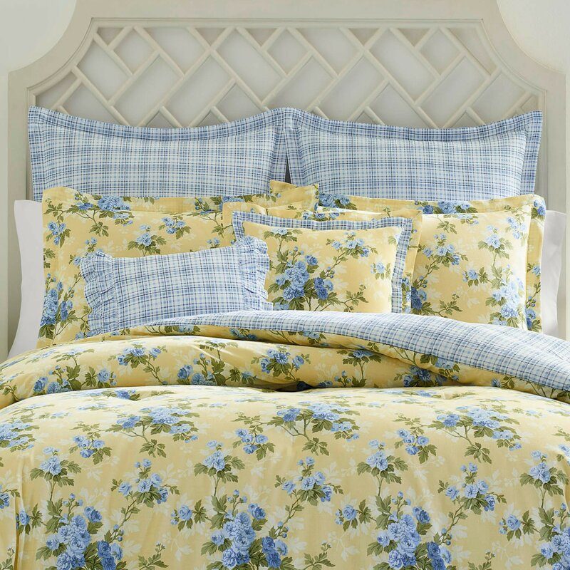 Laura Ashley Cassidy Cotton Reversible Comforter Set By Laura Ashley