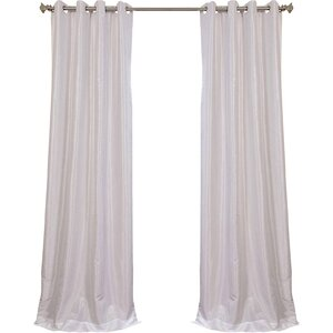 Gediminas Solid Max Blackout Thermal Grommet Single Curtain Panel