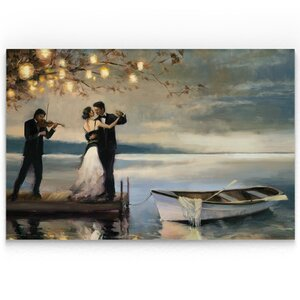 'Twilight Romance' Oil Painting Print on Wrapped Canvas