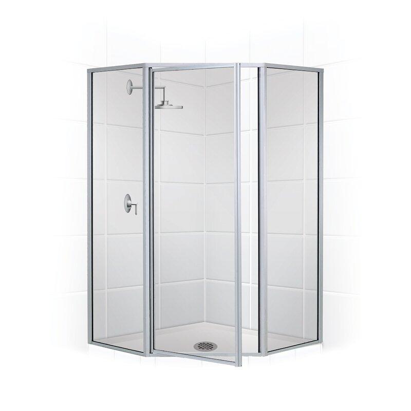 Legend Series Framed 59\  x 17\  Neo-Angle Hinged Shower Enclosure  sc 1 st  Wayfair & Coastal Industries Legend Series Framed 59\