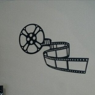 Movie Reel and Film Home Theater Metal Wall Décor & Movie Theater Wall Decor | Wayfair