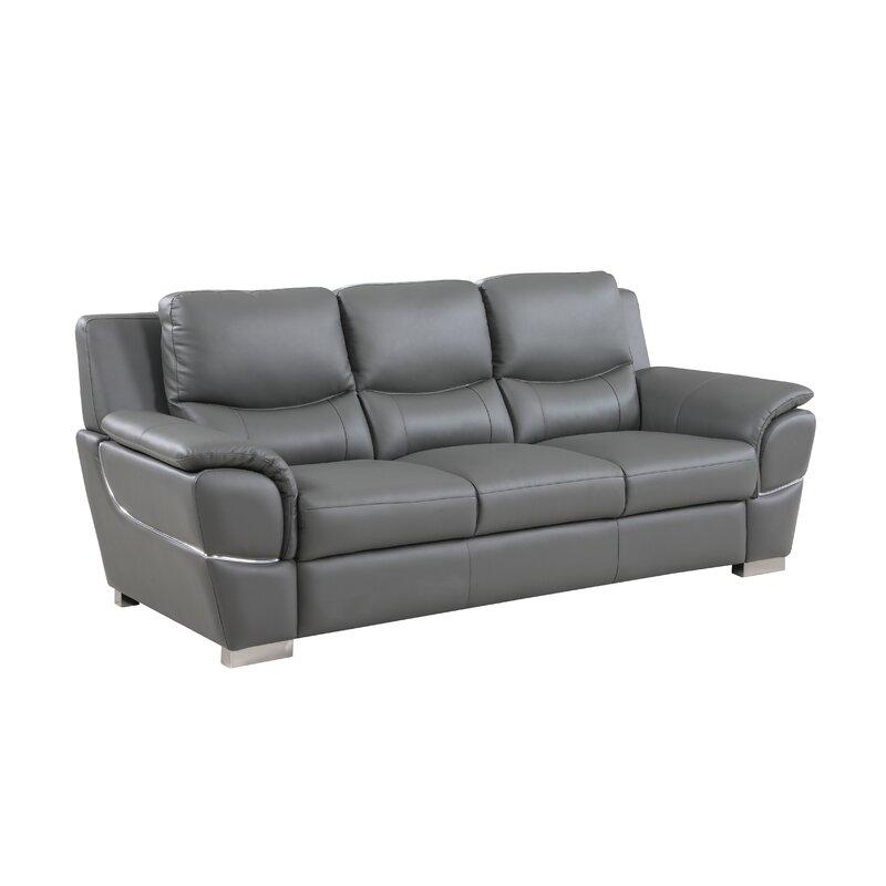 Latitude Run Henton Leather Sofa & Reviews | Wayfair