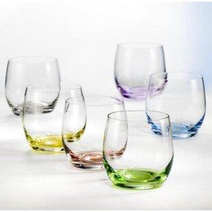 Morganna 10 oz. Crystal Stemless Wine Glass (Set of 6)