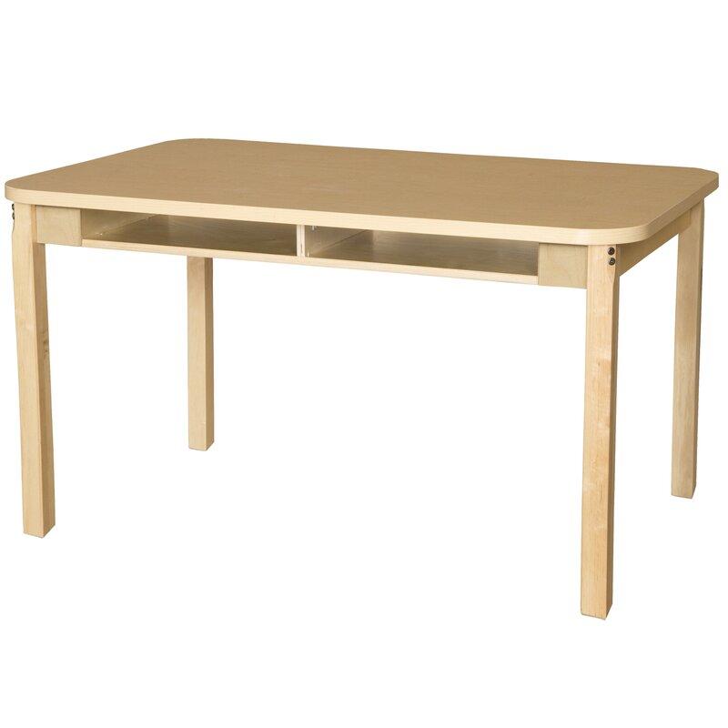 Wood Adjustable Height Multi Student Desk
