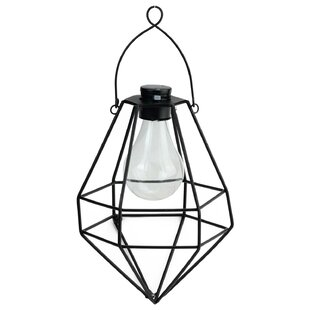 Solar outdoor hanging lanterns wayfair wilson diamond solar powered 1 light led outdoor hanging lantern workwithnaturefo