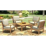 Isaacson 5 Piece Dining Set with Cushions