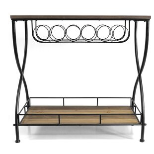 Savarese Rustic Industrial Bar Cart by Gracie Oaks