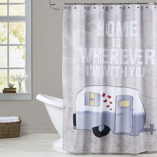 Grey Single Shower Curtain Design