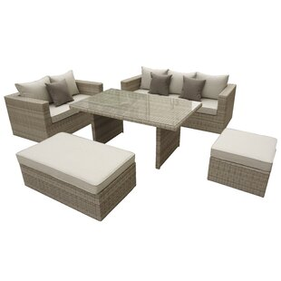 Oasis 5 Piece Lounge Dining with Cushions by Willa Arlo Interiors
