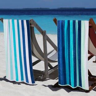 Makenna Coastal Blues 2 Piece Egyption Quality Cotton Beach Towel Set