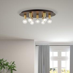 Which Luxury Flush Mount Light Is Best For Home Wrought Studio Wrought Studio Cloran 3 Light 10 Lantern Drum Flush Mount