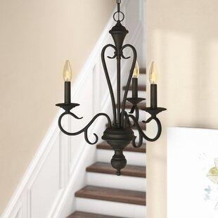Fleur De Lis Living Birchview 3-Light Candle Style Chandelier