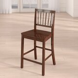 Wathen Solid Wood 24 Counter Stool (Set of 2) by Charlton Home®