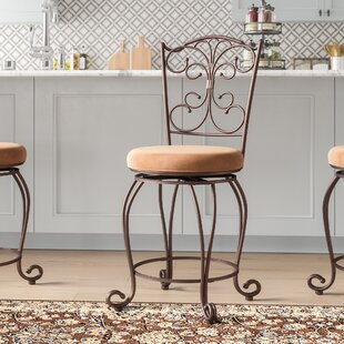 Affordable Alcrossagh 24 Swivel Bar Stool by Fleur De Lis Living Reviews (2019) & Buyer's Guide