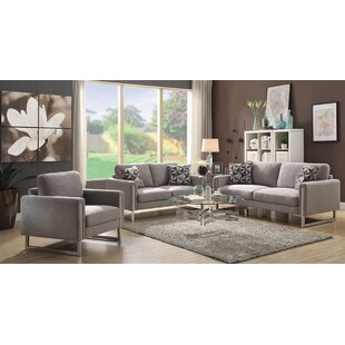 Purchase Stage 3 Piece Living Room Set by Orren Ellis Reviews (2019) & Buyer's Guide