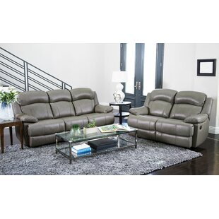 Price comparison Cuyler Reclining 2 Piece Leather Living Room Set by Darby Home Co Reviews (2019) & Buyer's Guide
