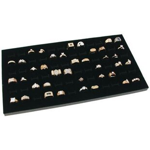 Affordable Glass Top 72 Slot Accessory Tray By Rebrilliant
