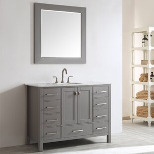 Reviews Newtown 48 Single Vanity Set with Mirror By Beachcrest Home