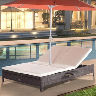 Cephas Sun Chaise Lounge With Cushion by Rosecliff Heights Spacial Price