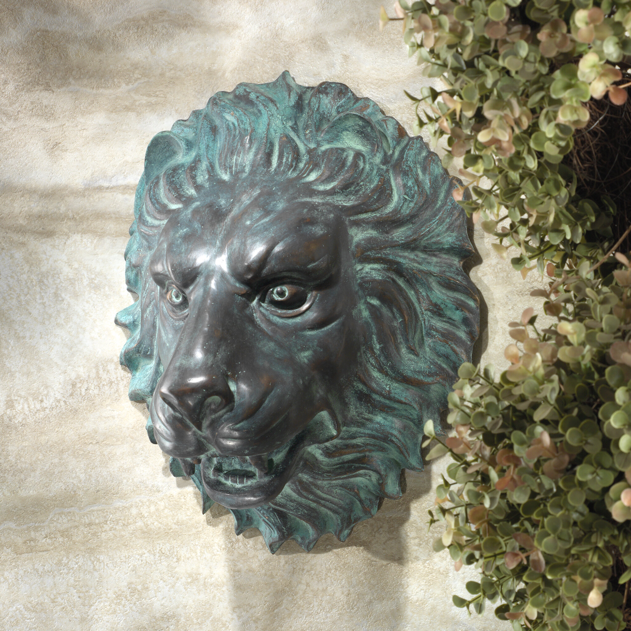Design Toscano Florentine Lion Head Spouting Garden Wall Statue Wayfair
