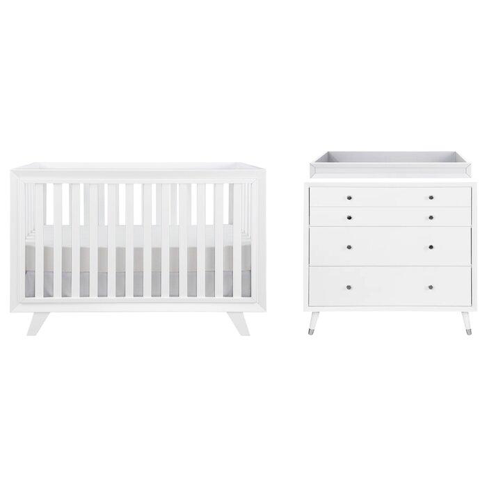 Wooster Convertible Standard 2 Piece Nursery Furniture Set