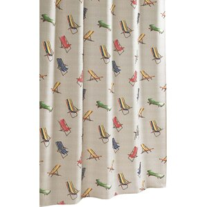 Beach Chairs Cotton Shower Curtain By Tommy Bahama Bedding