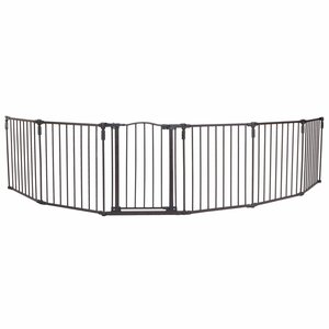 North States 3-in-1 Arched Du00e9cor Metal Superyard 6-Panel Pet Gate