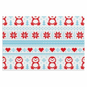 'Pixel Penguin Holiday' Doormat