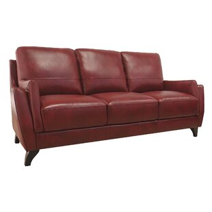 Carrington Leather Sofa by Brayden Studio Cool