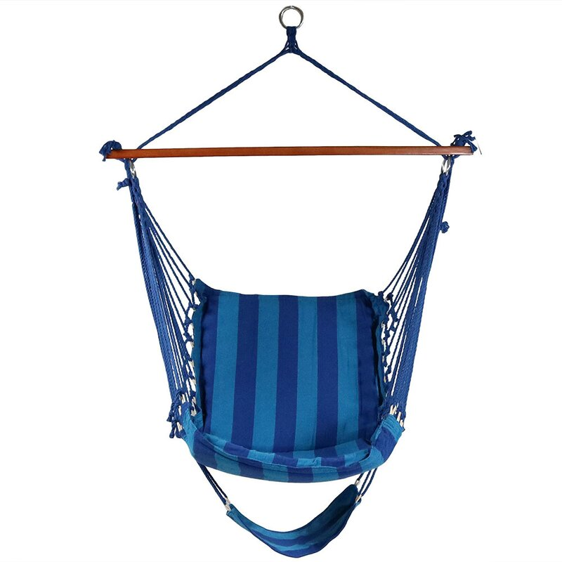Hanging Padded Soft Cushioned Chair Hammock By Sunnydaze