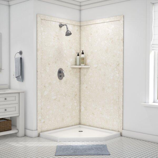 "flexstone splendour 80"" x 40"" x 40"" two panel shower wall"