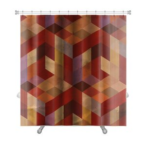 Delta Vintage Pattern Abstract Premium Shower Curtain