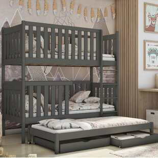 Hutchins Single (3') Bunk Bed With Trundle And Drawers By Harriet Bee