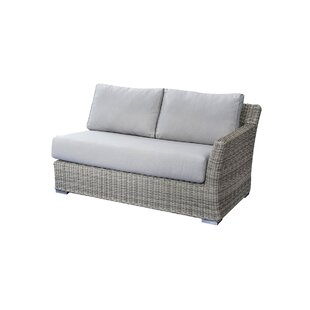 Searle Left Arm Olefin Patio Sectional with Cushions