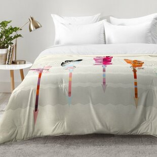 Feathered Arrows Comforter Set by East Urban Home