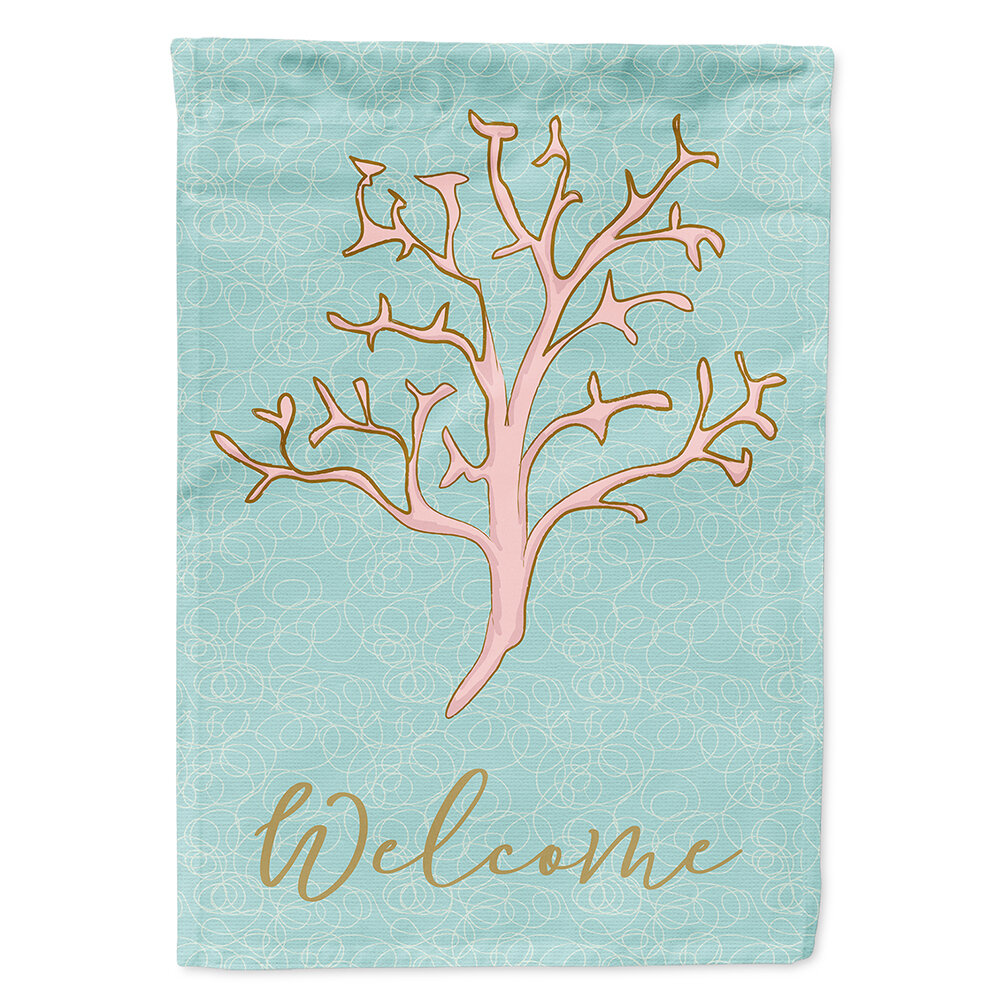 Caroline S Treasures Coral Welcome 2 Sided Polyester 40 X 28 In House Flag Wayfair