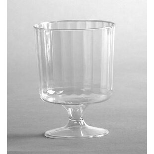 Classic Crystal Pedestal Plastic Disposable Wine Glass