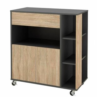 Ramus Kitchen Trolley With Solid Wood Top By Ebern Designs