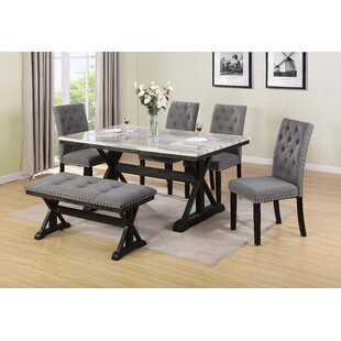 Lona 6 Piece Dining Set DarHome Co