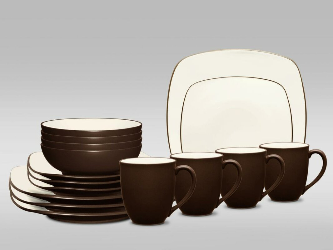Noritake Colorwave Square 16 Piece Dinnerware Set, Service for 4 ...