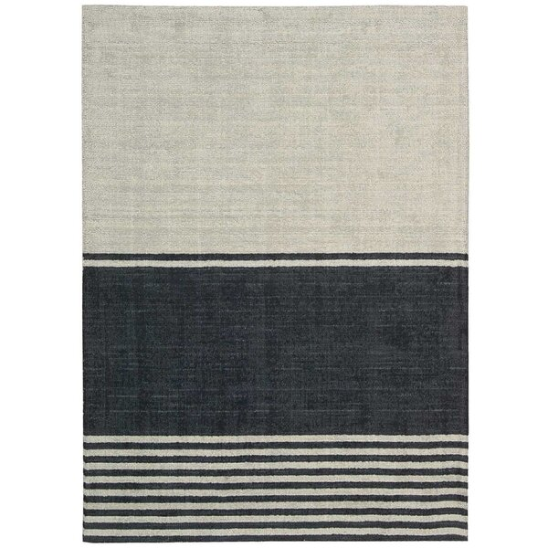Calvin Klein Tundra Hand Knotted Wool Gray Black Area Rug Reviews Wayfair