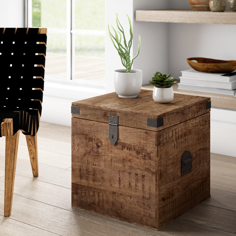Mistana Angelique End Table With Storage Reviews Wayfair
