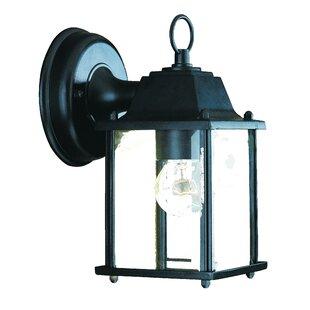 Great choice Ledbetter 1-Light Outdoor Cast Aluminium Wall Lantern By Charlton Home