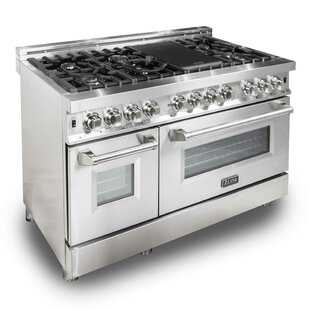 ZLINE 48 Free-standing Natural and Liquid Propane Fuel Range with Griddle by ZLINE Kitchen and Bath